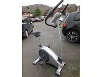 V-fit programmable, magnetic, upright exercise bike