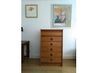 Vintage Scandinavian style Tallboy Chest of drawers - free delivery available