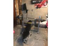 Powertec multi angle bench / Olympic Bar and weight et