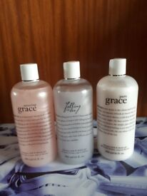 3 x new philosophy 3-in-1 shower gel