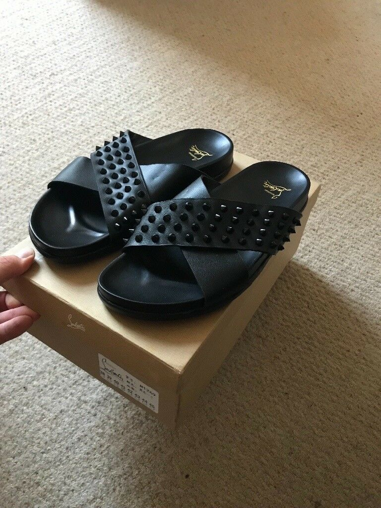 new styles good service how to buy Christian Louboutin Men's sliders spike New boxed | in Brighton ...