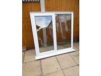 WHITE UPVC DOUBLE GLAZED SIDE OPENING WINDOW