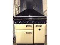 Rangemaster Elan 90 ceramic all Electric cooker with hood