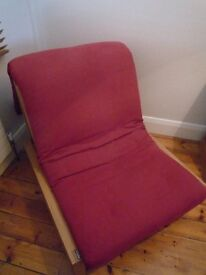 Futon Company single futon in excellent condition with solid wooden frame & good quality cushion.