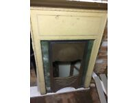 """""""1912"""" Fireplace Surround and Grill"""