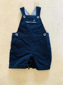 M&S boys short dungarees size 3-6