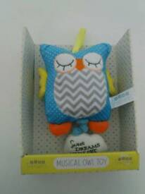 Musical owl for baby - boxed brand new