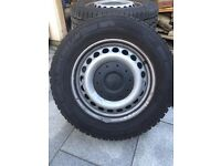 VW Transporter T5 Steel Wheels off T32, Almost new Michelin Winter Tyres load rated