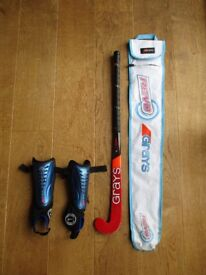 Grays Junior Hockey Stick, Bag and Shin Guards