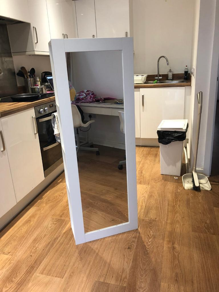Ikea Brimnes Full Length Wall Mirror With Shelves In