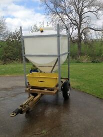 Field/Paddock Large Fresh Water Bowser Transport Trailer - 900Ltrs
