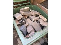 Hardcore blocks waste (raw blocks for throwing in hole) plus other for throwing into holes etc