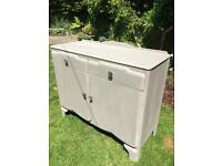 Wooden sideboard chalk painted