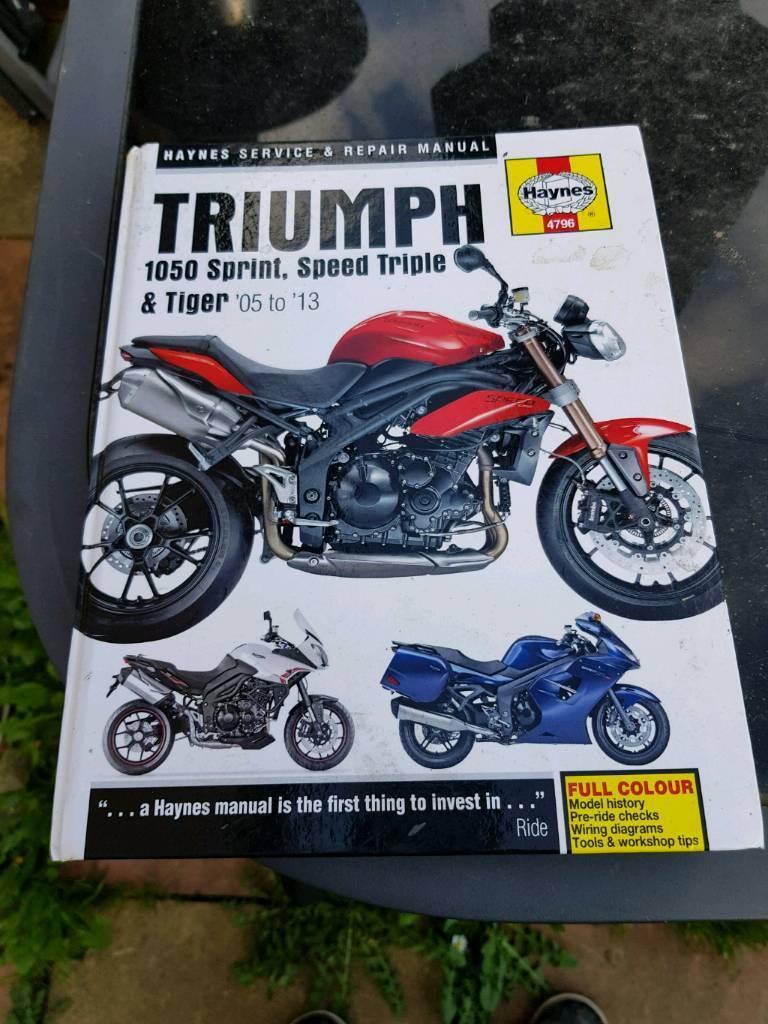 Triumph Sprint 1050,tiger 1050 and speed triple haynes workshop manual