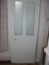 Victorian part glazed internal door with obscure glass 770mm x 2010mm x 32mm