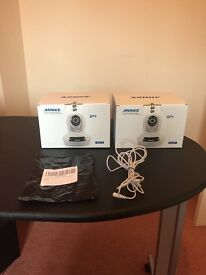 X2 annke security cameras plus extension cords