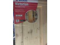 """Victorian Pine Door 78"""" x 30"""" Unused & wrapped"""