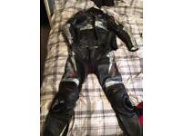 Rst 2 piece motorcycle leathers size 44top 34 bottoms