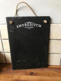 Lovely Shoreditch Hanging Slate Chalk Board Sign
