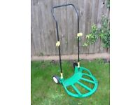 Garden Waste Collapsible Pop Up Bag Trolley Sack Truck + Rake Tool Holder Hooks