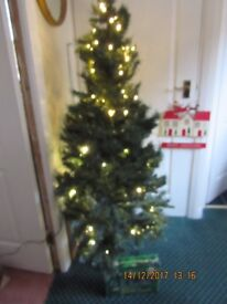5ft Green Pre -lite Christmas Tree with Extra set of Sparkly Lights