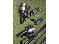 Fishing rods/Alarms/Reels.