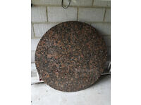 Kitchen worktop/tabletop circular granite slab in Baltic brown