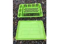 Camping draining rack and tray