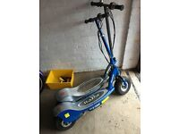 Two razor e300 scooters one grey one blue kids don't use them anymore £150 for the pair