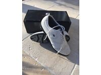 Adidas Roy air sansole golf shoe, white leather. Size UK. 8.5