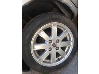 Set of 4 Rover 25 alloys 15 inch with 4 good tyres
