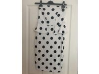 Bandeau polka dot dress