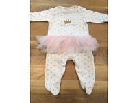 0-3 months baby girls clothes - Next tutu sleepsuit 0-3 EUC