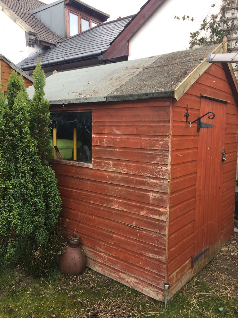 garden shed wooden 8ft x 6ft