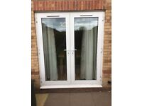 French doors and window
