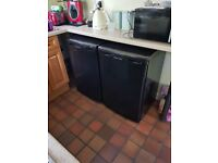 Russell Hobbs Under the Counter Larder Fridge and Under the Counter Freezer both in Black