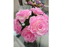 Artificial Roses x 170 Pink flower heads