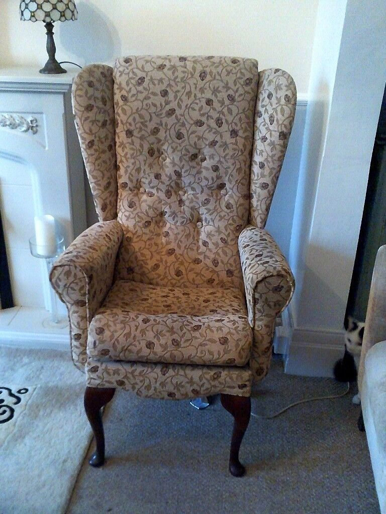 HIGH BACKED WING CHAIR