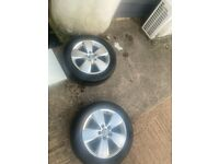 2, AUDI,VAG,VW,16 INCH,5 STUD,5 X 112 PCD,ALLOYS,CENTRES,205/55/16s