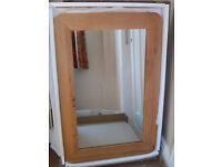 Oak Furniture Land solid oak wall mirror
