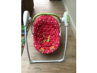 Mothercare baby swinging chair