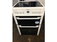 Beko BDVC664W 60cm Electric Double Cooker in White #3447