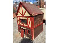 Antique / Vintage Dolls House - With Dolls House Vintage Furniture - Tano Toys