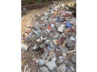 Free building rubble Brocken bricks and blocks ideal for hard core