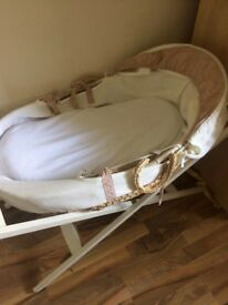 Mamas and Papas Moses Basket with Stand £25obo