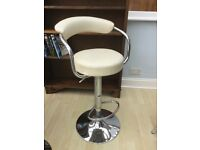 two chrome bar/kitchen stools