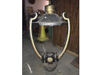 Antique pair of parapet wall entrance lights