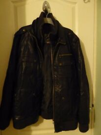 Red Herring Leather Look Jacket Size XL