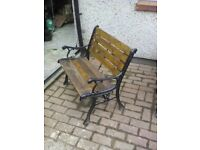 Cast iron home made garden benches and seats. Excellent condition. £60 per bench, £25 per seat.