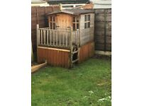 Wooden toy Wendy house